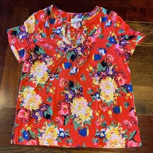 Maeve by Anthropologie, Floral Short Sleeve Top